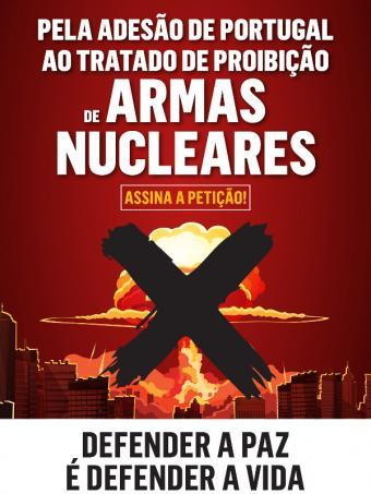 subscricao a peticao - armas nucleares